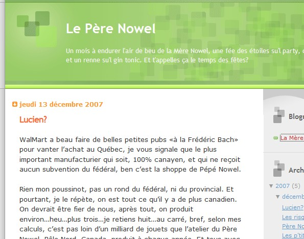 Blogue Pere Nowel